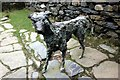 SH5947 : Bronze Statue of Gelert at Beddgelert by Jeff Buck
