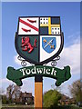 SK4983 : Todwick village sign by Martin Speck