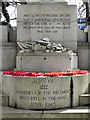 SK3387 : Weston Park War Memorial (inscription) by David Dixon