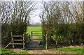 SU2099 : Two gates and a footbridge on the Seven Stiles Stroll, near Lechlade on Thames by P L Chadwick