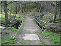 SK2890 : Footbridge below Stacey Bank by Robin Stott