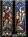 SK2758 : Stained glass window, Bonsall Church by Andrew Hill