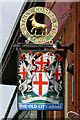 TQ2378 : The Old City Arms - inn sign by Robin Webster