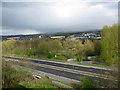 SD8333 : View west across the M65 from the Holiday Inn by Nick Smith