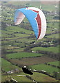 SK1184 : Paragliding on Rushup Edge by Hugh Chevallier