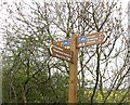 NT4368 : Signpost, Pencaitland Railway Path by Richard Webb