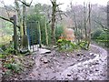 SE0818 : Footpath gate off Carr Hall Lane, Old Lindley by Humphrey Bolton