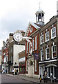 TQ7468 : Rochester - clock on Corn Exchange by Dave Bevis