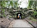 SD8204 : Entering the bovine tunnel, Heaton Park by Christine Johnstone