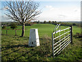 SP1463 : Triangulation pillar, Wootton Hill Farm by Robin Stott