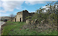 SK1385 : Derelict barn on Edale Road by michael ely