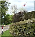SE2316 : Flying the flag at Upper Denby by Christine Johnstone