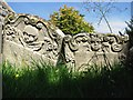 TL8262 : Old gravestones in St Leonard's churchyard by Evelyn Simak