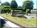 SN6221 : Ffairfach railway station yard by John Grayson