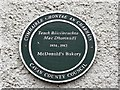 H3617 : Plaque, McDonald's Bakery, Belturbet by Kenneth  Allen