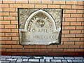 NZ0962 : Wesleyan Chapel wall plaque, Square behind Library, Front Street by Andrew Curtis