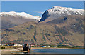 NN1671 : The Ben Nevis range from Corpach by The Carlisle Kid