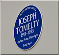 Photo of Joseph Tomelty blue plaque