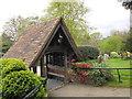SU8755 : St Peter, Farnborough: lych gate : Week 18