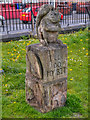 SD8402 : Squirrel Carving, Crumpsall Park by David Dixon