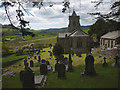 SD4491 : The cemetery at St Mary's Church, Crosthwaite by Karl and Ali