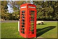 NZ8301 : Telephone box on The Green by Steve Daniels