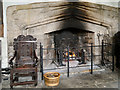 SD4615 : The Great Hall at Rufford Old Hall, Fireplace by David Dixon