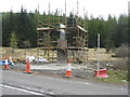 NN3230 : Chimney under construction wltm lonely house for a smoke? by M J Richardson