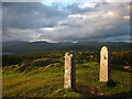 SD4096 : Stone posts on the top of Brant Fell by Karl and Ali
