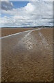 NX9353 : Mersehead Sands by Walter Baxter