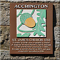 SD7628 : St James' Church Heritage Plaque by David Dixon