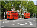 TQ2479 : Routemasters on route 9, Kensington High Street by Robin Webster