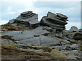 SK0989 : Rock formation south of Fairbrook Naze by Andrew Hill