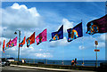 SW4729 : Flags For 2007 Golowan Festival, Penzance by Roy Hughes