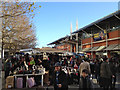SP0786 : Bag stall, Edgbaston Street market by Robin Stott