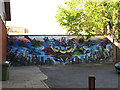 TQ3379 : OBC mural, Webb Street by Stephen Craven