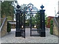 TQ2677 : Restored gates at Cremorne Gardens by David Martin