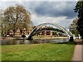 TL0549 : Suspension Bridge over River Great Ouse by Paul Gillett