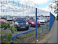 SP1585 : Airport parking, Mackadown Lane by Christine Johnstone