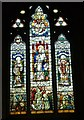 NS9886 : Stained glass window, Culross Abbey by kim traynor
