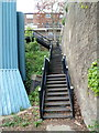 TQ2682 : Steps up to the road from the NE portal of Maida Hill Tunnel, London by John Grayson