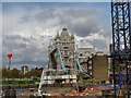 TQ3380 : Construction Site Near Tower Bridge by David Dixon