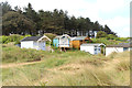 TF6842 : Beach Huts, Old Hunstanton, Norfolk by Christine Matthews