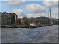 TQ3479 : River Thames, Downings Road Moorings by David Dixon