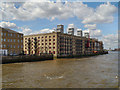 TQ3580 : River Thames, Globe Wharf by David Dixon