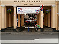TQ3877 : Greenwich Market by David Dixon