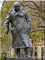 TQ3079 : Sir Winston Churchill Statue, Parliament Square by David Dixon