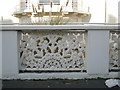 SP3166 : Perforated cast-iron screen in a wall, Heath Terrace by Robin Stott