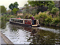 TQ2783 : Regents' Canal, Water Bus Near London Zoo by David Dixon