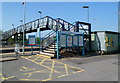 ST4687 : Entrance to Severn Tunnel Junction railway station, Rogiet by John Grayson